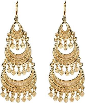 BOBIJOO JEWELRY - Orecchini pendenti da donna placcati oro