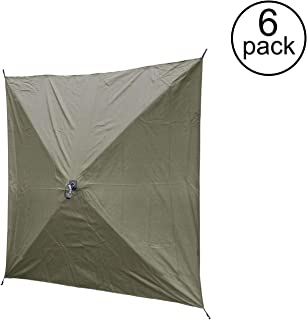QUICK-SET Clam Screen Hub Green Fabric Wind & Sun Panels Accessory Only (6 Pack)