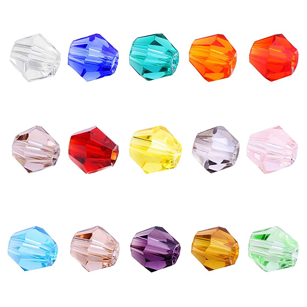 BEADNOVA 4mm Xilion Bicone Faceted Crystal Glass Beads For Jewelry Making DIY Craft Beads Bracelet Wholesale Mix lot 1500pcs