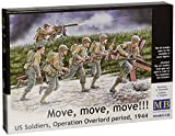 Master Box Models Move, Move, Move!!! U.S. Soldiers 1944 Operation Overlord Period 7 Figures Set (1/35 Scale)