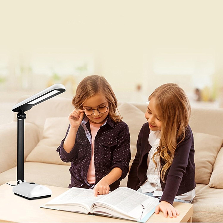 Schreibtischlampe LED Schreibtischlampe 10W Lesen, Schlafzimmer Nachttischlampe, Berührungsschalter, dimmbar, Nummer  TG2309, Classic schwarz And Weiß