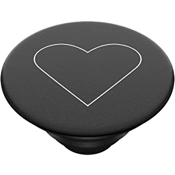 PopSockets PopTop - Top Intercambiabile per Il Tuo PopGrip Intercambiabile - White Heart Black
