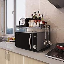 JND Microondas Digitales Horno Microondas Horno de Carro estantes de la Cocina Contador y el Gabinete de validez 2-Tier Ajustable Horno de microondas Manual