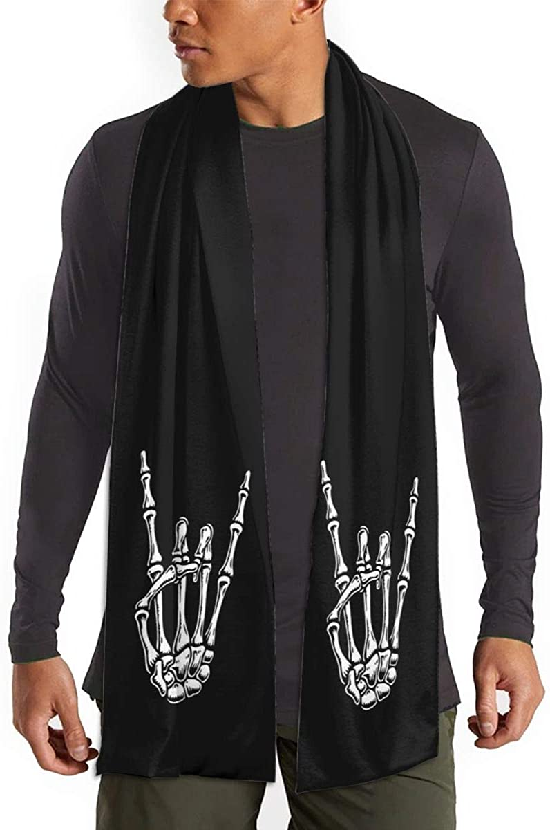 Fall Winter Scarf For Men/Women,Rock N Roll Skull Hand Fashion Long Scarf Warm Soft Shawl Wrap Scarves Gifts