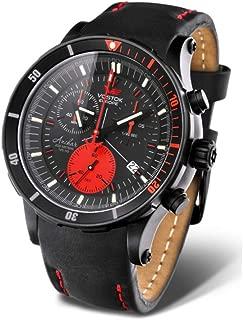 Vostok-Europe - Anchar Mens Diver Watch - Black/Red - 6S30-5104244