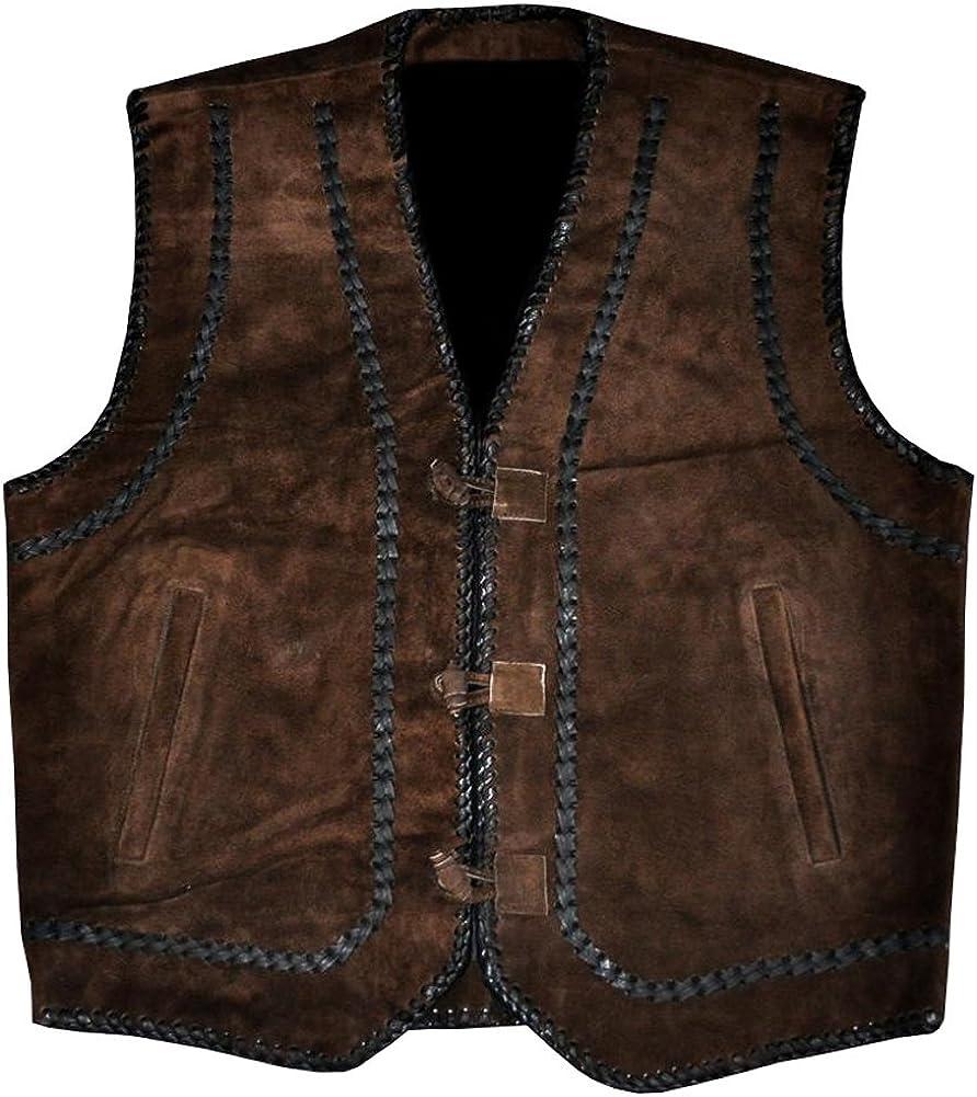 coolhides Men's Fashion Suede Leather Stylish Vest