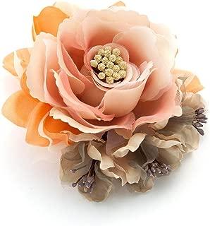 [ミッシュキッシュ]コサージュ ブローチ ヘアアクセサリー クリップ ふんわり花弁のフェミニンコサージュ 4517-401