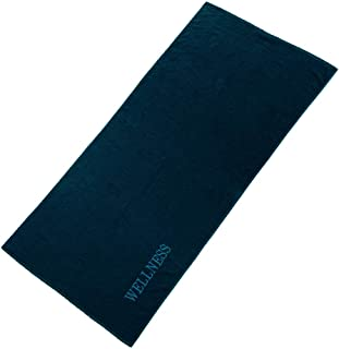 aqua-textil Ręcznik do sauny Wellness 80 x 200 cm Uni ciemnoniebieski bawełna frotte ręcznik do sauny ręcznik plażowy
