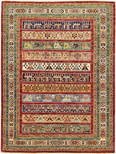 Nain Trading Afghan Ersari 200x153 Orientteppich Teppich Braun Handgeknüpft Afghanistan