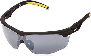 Men's Tenacity Wrap Sunglasses, Matte Black Rubberized,...