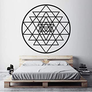 Wall Stickers Murals Vinyl Wall Sticker Sacred Geometry Removeable Decal Salon Livingroom Bedroom Home Decoration Art Post...