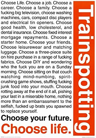 11x17 Trainspotting Choose Life Movie Poster Prints Posters Prints