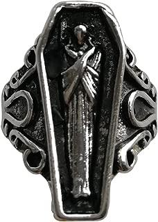 Goth Coffin Rings for Women Men Silver Rings Open Ending