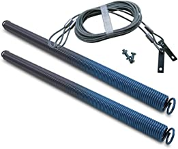 Ideal Security SK7155P2 SK7155 Extension Spring Kit 2-Pack Of Garage Door Springs & Safety Cables, Two Safety, 140 lbs Blue