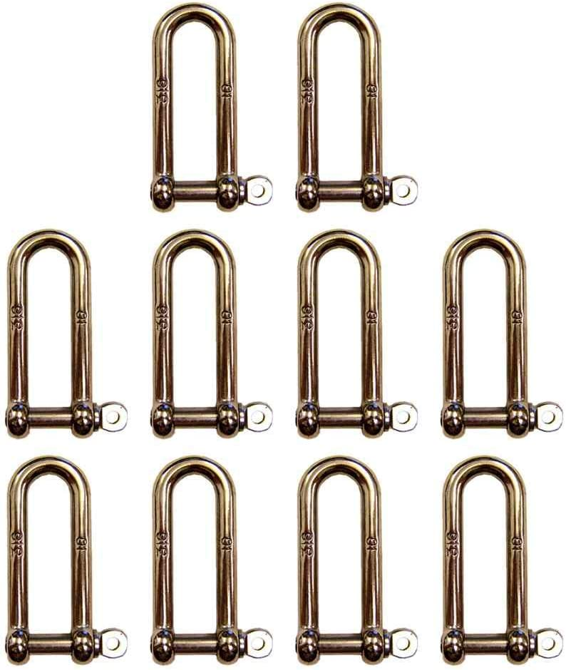 3 8 half Inch Stainless Steel Type 316 in Pin a D Shackles online shop Long Screw