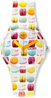 Swatch Women's Quartz Watch Sweet Explosion SUOW707 with Plastic Strap