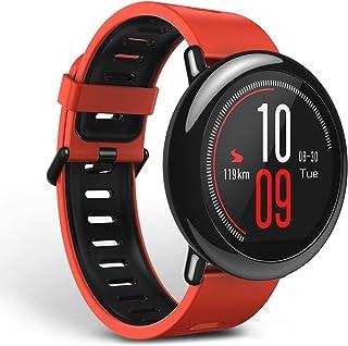 امازفيت ساعة ذكية شريط مطاطي متوافقة مع اندرويد و اي او اس,احمر - A1612