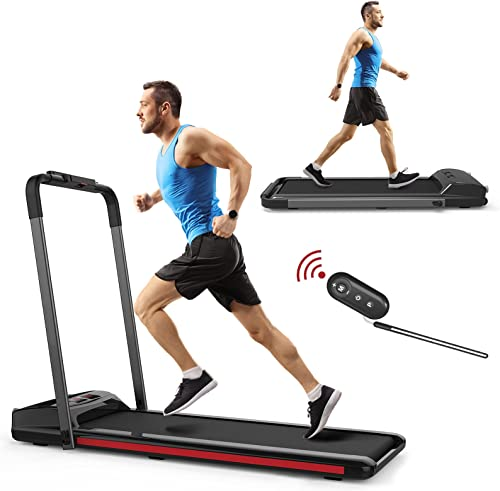 discount SHAREWIN 2 in 1 Folding Portable online Treadmill Walking Pad for Home new arrival Under Desk Electric Treadmill Running Machine Portable Compact Treadmill for Running and Walking Exercise 2.25HP outlet sale
