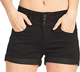 Women's Classic Stretch Denim Ripped Butt Lift Casual Summer Jean Shorts
