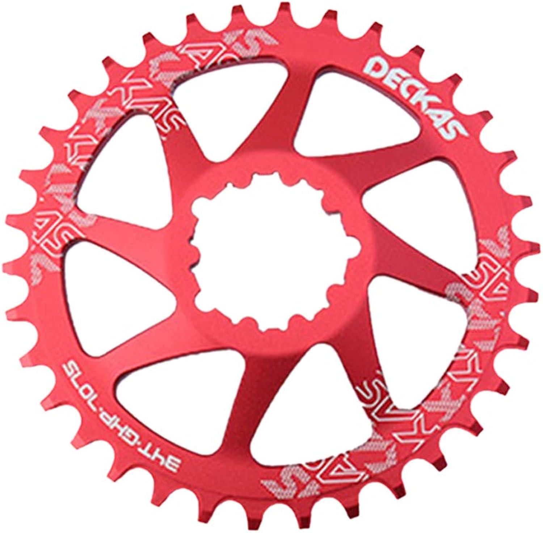 HAohAnwuyg Bike Chainring,Bike Accessories DECKAS MTB Mountain Bike Chainring Plate for SRAM GXP XX1 X0 X9 XO1 Crankset  Red 32T Ellipse