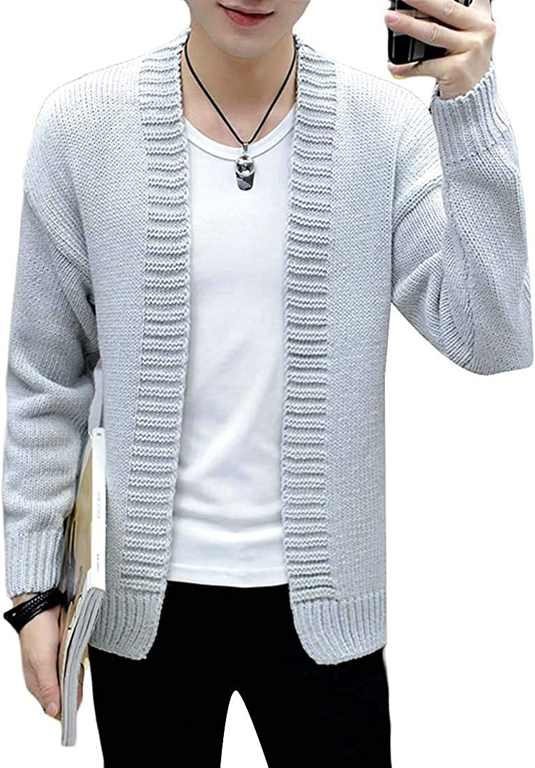 TIMOTHY BURCH Men's Open Front Super Special SALE held Fashion Shipping included Long Knitted Sleeve Slim