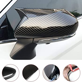 For Toyota Camry 2018 2PCS Carbon Fiber ABS Side Door Rearview Mirror Cover Trim