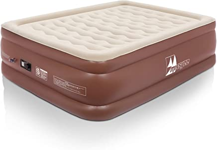 Missyee Inflatable Air Mattress Full Queen Size,  22 Double Height Raised Luxury Blow Up Mattress Bed with 120V Electric Built in Pump and ERGOCOIL Technology Chamber,  650 lbs Capacity 80 X 60 X 22