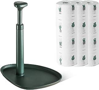 YUANYOU Portarotolo da Cucina autoportante con Vassoio portaoggetti, Rotolo di Tessuto a Torre Facile da strappare per Tav...