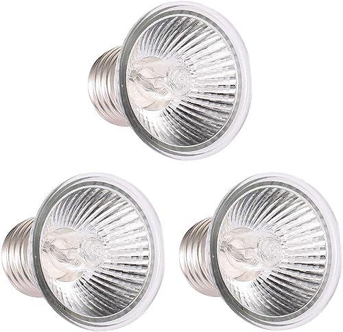 Decdeal - Lámpara de calentamiento de 25 W, UVA UVB, lámpara de calentamiento, bombilla de calefacción, para reptiles...