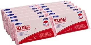WypAll Colour Coded Cloths,  Red,  20 Wipers/Pack,  Case of 12 Packs