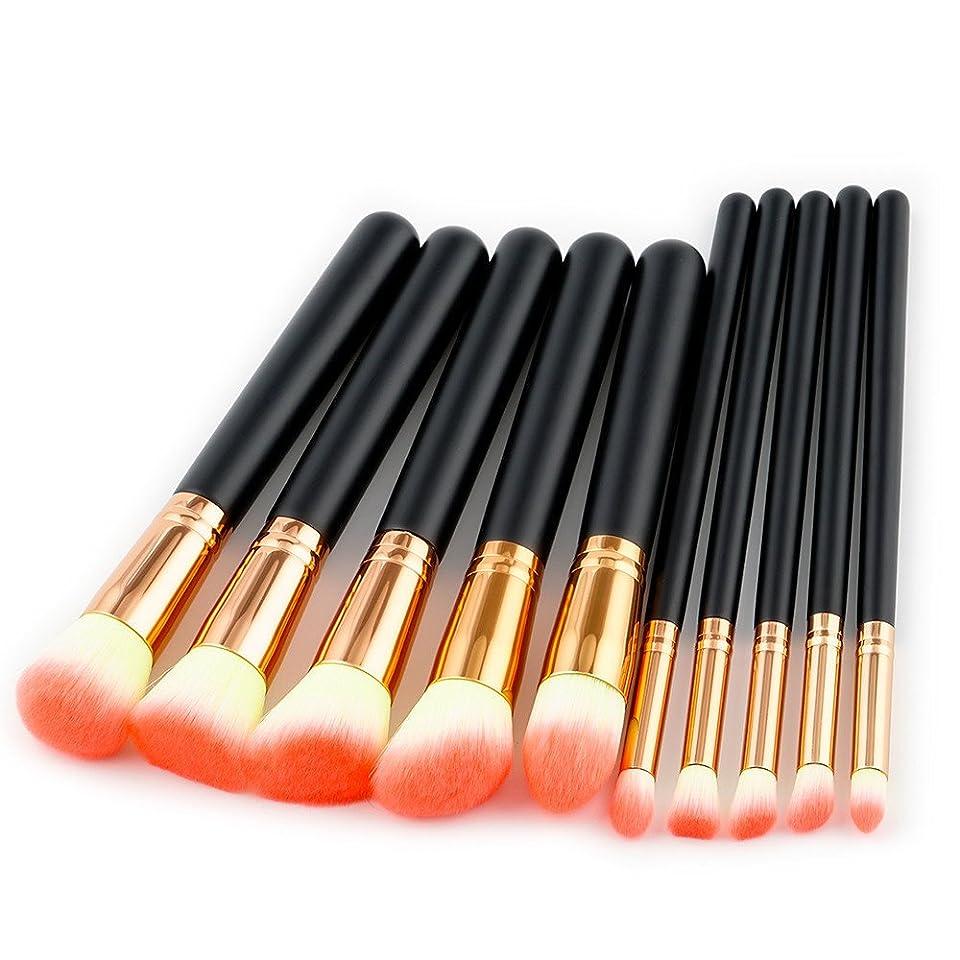 センチメートル等未来Akane 10本 ファッション おしゃれ 多機能 たっぷり オレンジ 高級 綺麗 柔らかい 美感 上等 激安 日常 仕事 Makeup Brush メイクアップブラシ
