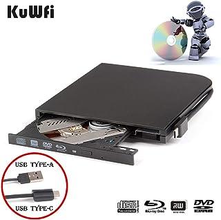 External Blu Ray DVD Drive Burner Player USB3.0 Type-C Dual interfaces Portable Slim Automatic slot-loading Blu-ray Drive ...
