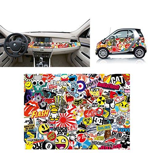 Sticker Bomb 01 - glanzende kleeffolie, 70 x 50 cm, thermoformfolie