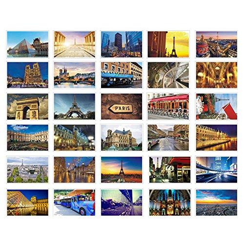 30 Pcs Cartes postales artistiques Cartes postales d'images Photos de voyage Cartes-cadeaux souvenirs, Paris romantique