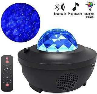Lámpara Proyector Estrellas, 21 Modos Proyector LED de Luz Nocturna con Altavoz Bluetooth y Temporizador para Bebés Dormitorio de Niños