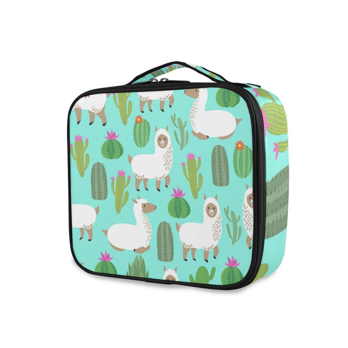 Travel Makeup Case Llamas Portable Bag Elegant Ranking TOP17 Cosmetic Ca Train