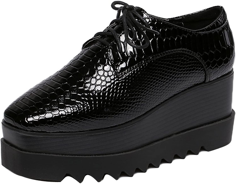 1TO9 Womens Adjustable-Strap Lace-Up Urethane Black Urethane Pumps shoes - 6.5 B(M) US