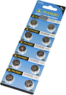 TIANQIU製 アルカリボタン電池 LR44 (AG13) 10個入り1パック 1.5V 水銀 0% 【 HoiHoi 】