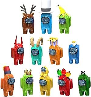 BSTTAI 12 st Among us iguren, julspelfigur djurdockor lekdocka, mini-karaktärsspel dockstaty, gåvor för spelfans