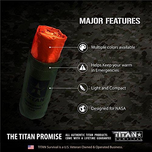 Titan Extra Thick Emergency Mylar Sleeping Bag Designed For NASA Space Explorati