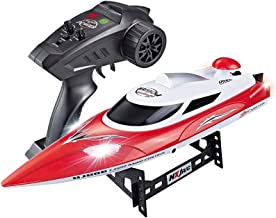 High-Speed RC Racing Boat 35KM/H Advanced 2.4GHz Pools Lakes and Outdoor Remote Control Boat for Adults & Kids,Color Red