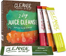 2 Day Juice Cleanse – Just Add Water & Enjoy – 14 Single Serving Powder Packets