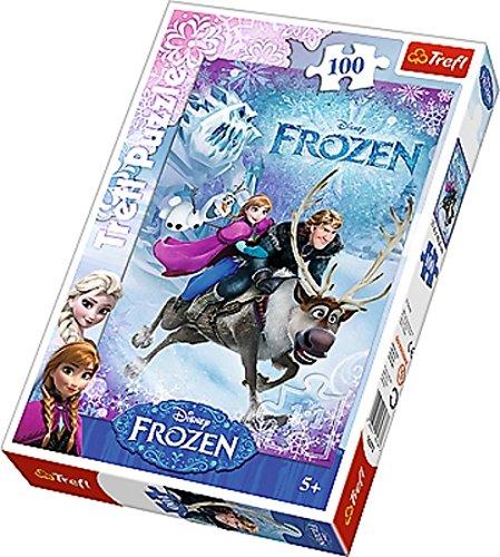 Trefl - 16273 - Puzzle - Disney Frozen - Annes sauvetage - 100 Pièces