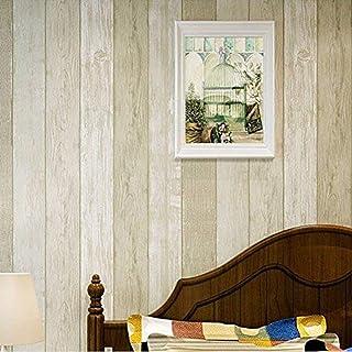 Imitacion Madera Papel Pintado Pared Rayas Mural Para Dormitorio Sala de Estar (E)