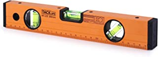 Level 12-Inch Aluminum Alloy Magnetic Torpedo Level Plumb/Level/45-Degree, Measuring Shock Resistant Spirit Level with Standard and Metric Rulers - MT-L03
