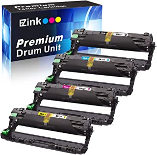 E-Z Ink(TM) Remanufactured Drum Unit Replacement for Brother DR221CL DR221 DR-221 to use with HL-3140CW HL-3170CDW MFC-9130CW MFC-9330CDW MFC-9340CDW (1 Black, 1 Cyan, 1 Magenta, 1 Yellow) 4 Pack
