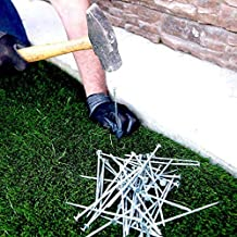 "USA MADE Synthetic Grass Landscape, 5.5"" Turf Nails / Stakes, 5 lbs Galvanized Boxed Spikes for Securing Artificial Turf P..."