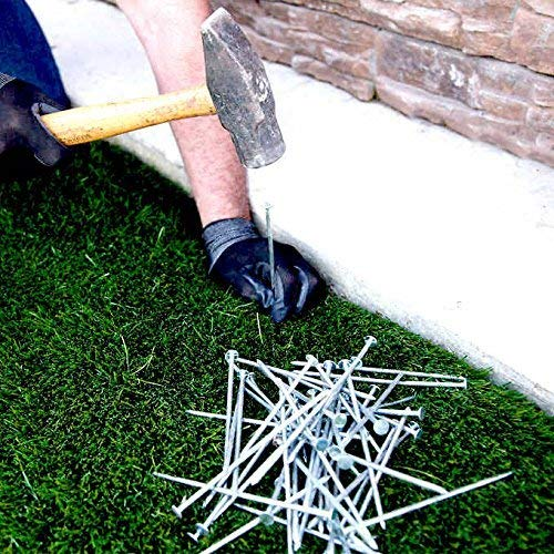 One Stop Outdoor USA Made Synthetic Grass Landscape, 5.5' Stakes, 2.5 lbs Galvanized Boxed Spikes for Securing Artificial Turf Products (an Average of 25% More Nails!) Approximately 75 Nails Per Bag