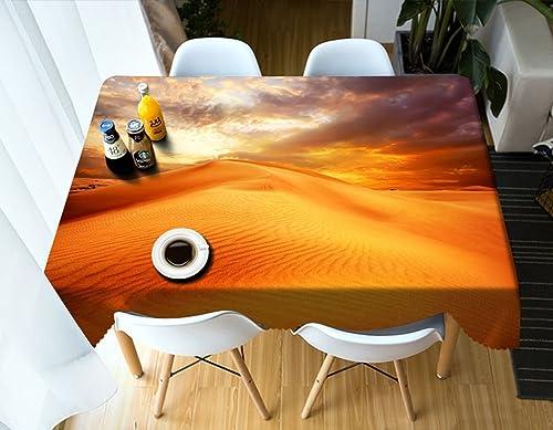 Qiao jin Tischdecke Rechteckige Tischdecke - 3D personalisierte Tischdecke PG01058 - Umweltfreundlich und geschmacklos - Digitaldruck Wasserdicht (Größe   Rectangular -228cm396cm)