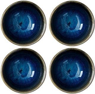 Amosfun 4 Stück Keramik-Dip-Schalen Saucenschalen Gewürzsc